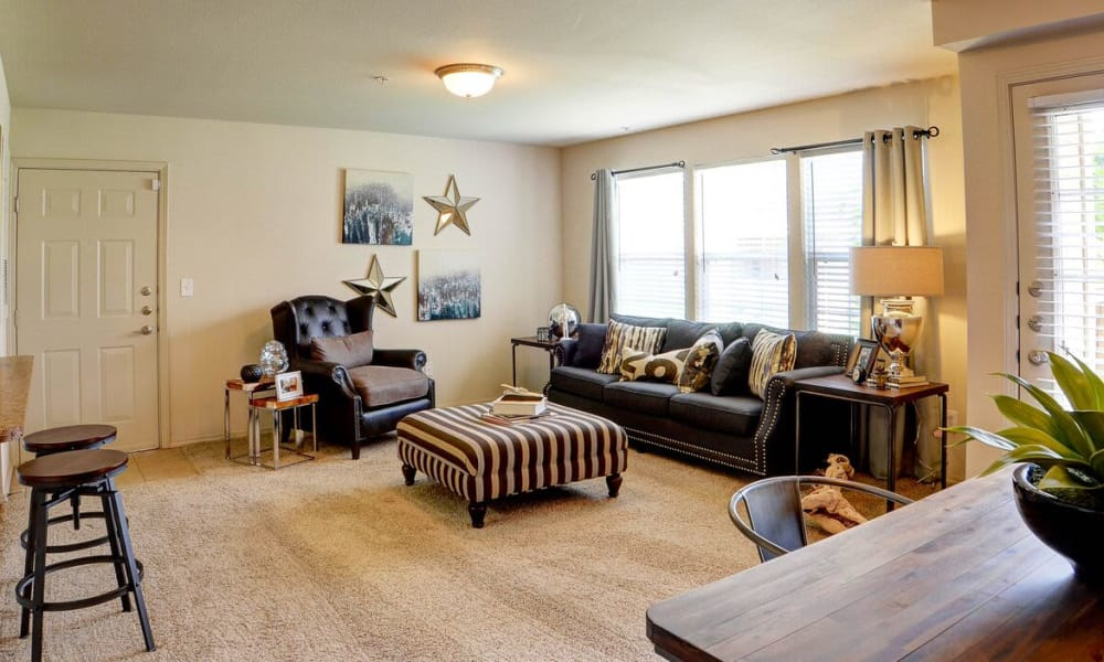 Spacious living room at Colonies at Hillside in Amarillo, Texas