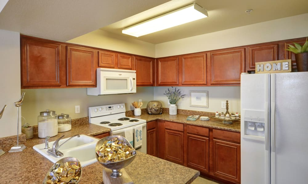 Kitchen with plenty of counter space at Colonies at Hillside in Amarillo, Texas