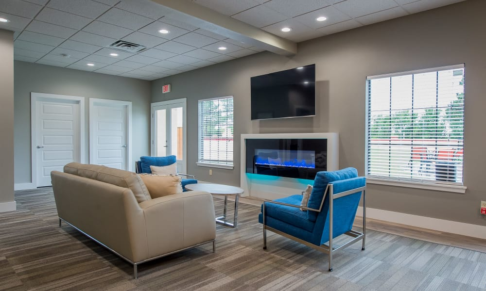 Luxury lounge at Council Place Apartments in Oklahoma City, Oklahoma
