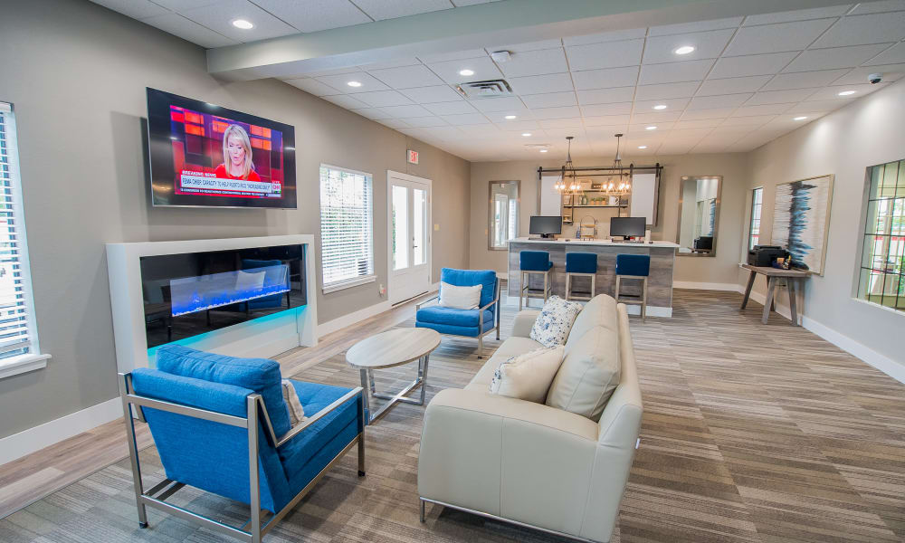 Lounge seating at Council Place Apartments's clubhouse in Oklahoma City, Oklahoma