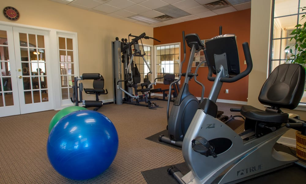 Fitness center for residents at Council Place Apartments in Oklahoma City, Oklahoma