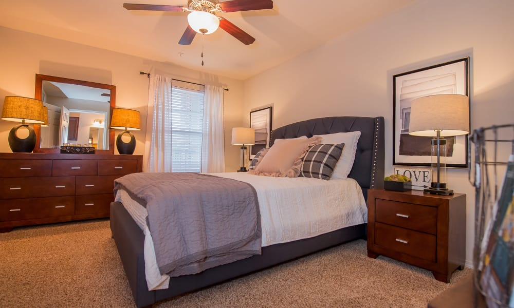 Spacious bedroom with a view at The Park on Westpointe in Yukon, Oklahoma