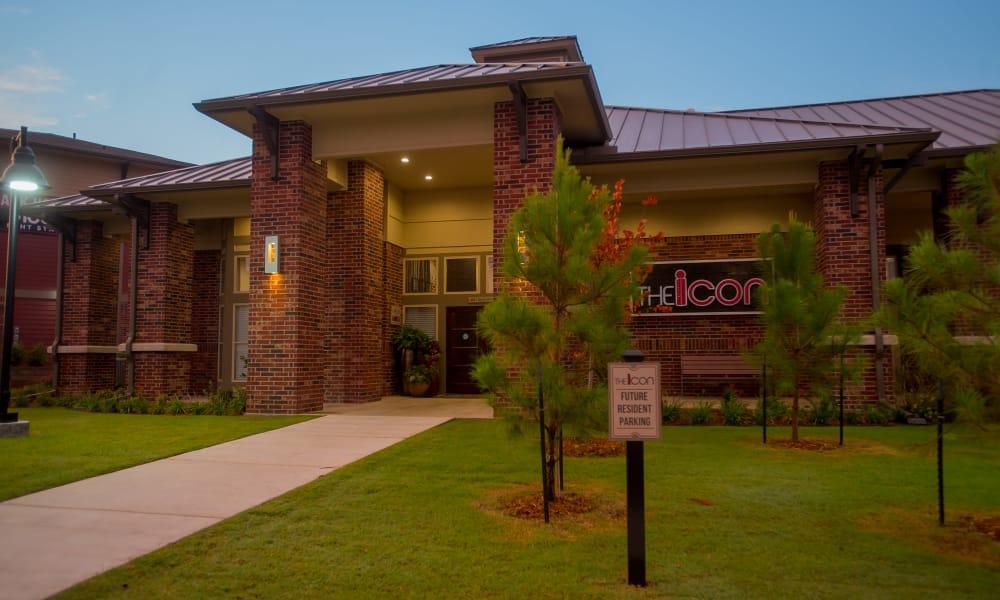 Sign and main entrance to Icon at Broken Arrow in Broken Arrow, Oklahoma