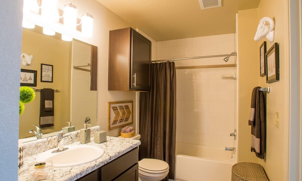 Icon at Broken Arrow offers spacious bathrooms in Broken Arrow, Oklahoma