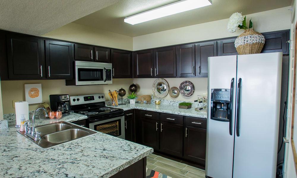 Fully equipped kitchen at Icon at Broken Arrow in Broken Arrow, Oklahoma