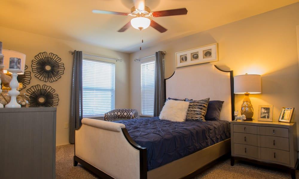 Carpeted bedroom at Icon at Broken Arrow in Broken Arrow, Oklahoma