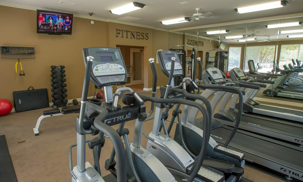 Fully equipped gym for residents at Prairie Springs in Oklahoma City, Oklahoma