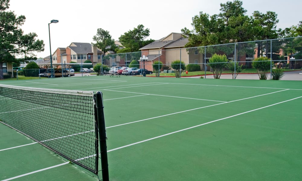 Tennis courts at Woodscape Apartments in Oklahoma City, Oklahoma