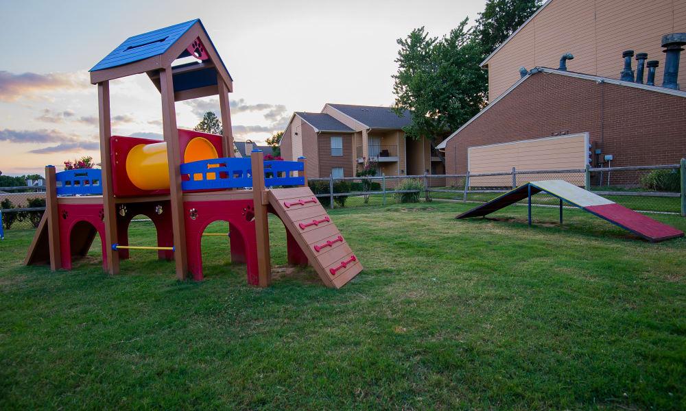 Playground area at Windsail Apartments in Tulsa, Oklahoma