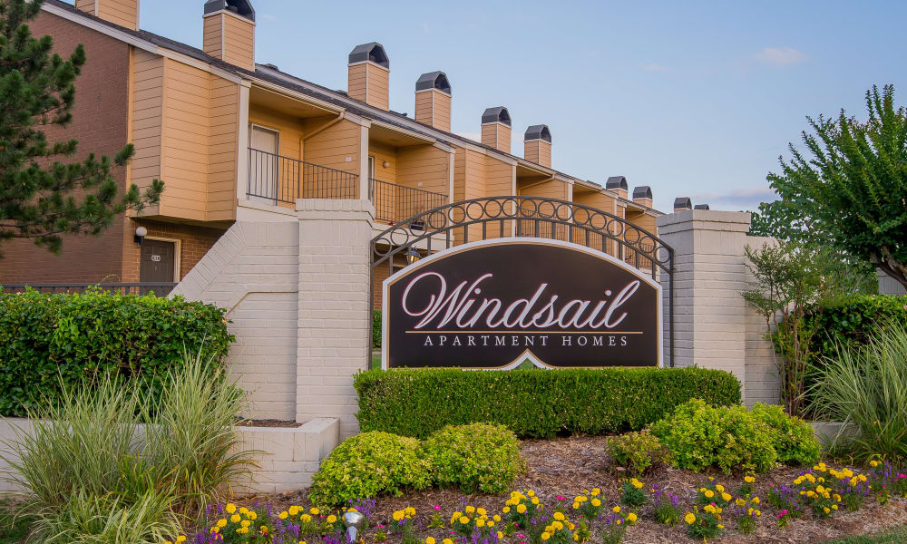 Signage at Windsail Apartments in Tulsa, Oklahoma