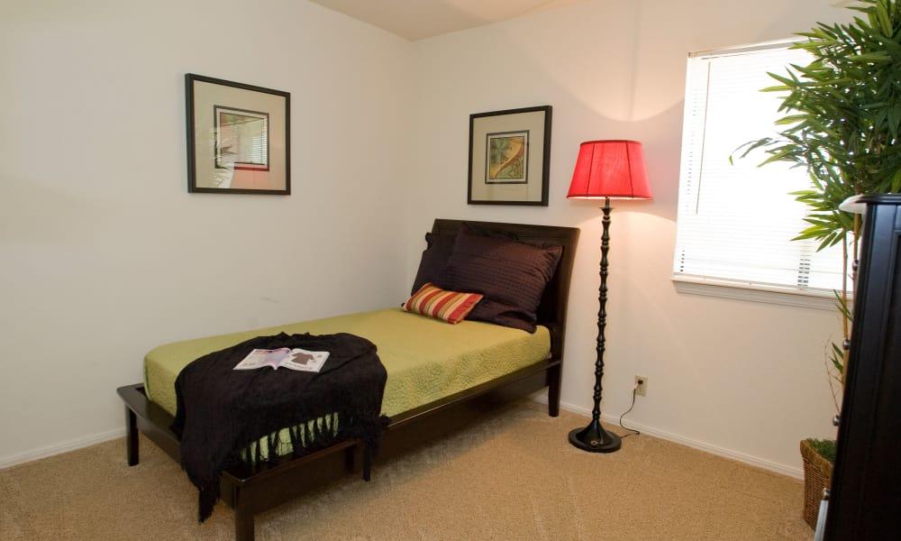 Cozy bedroom at Boulder Ridge in Tulsa, Oklahoma