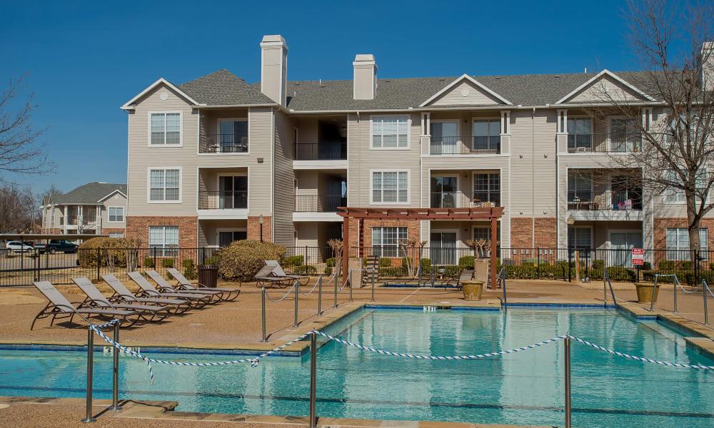 Resort style pool at Prairie Springs in Oklahoma City, Oklahoma