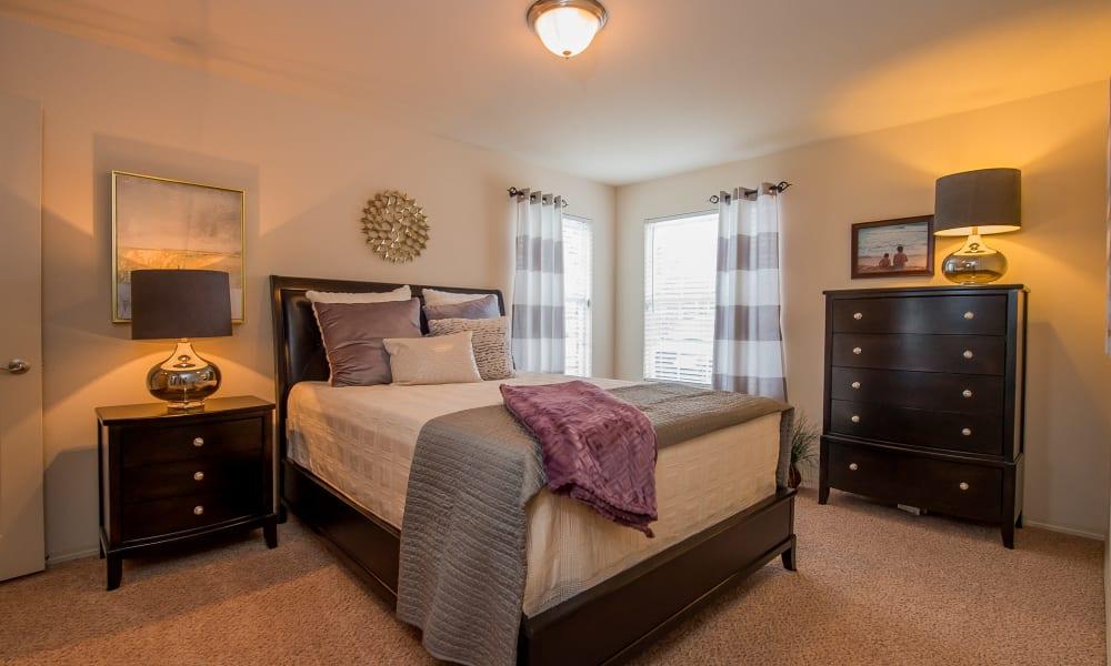 Cozy bedroom at Prairie Springs in Oklahoma City, Oklahoma