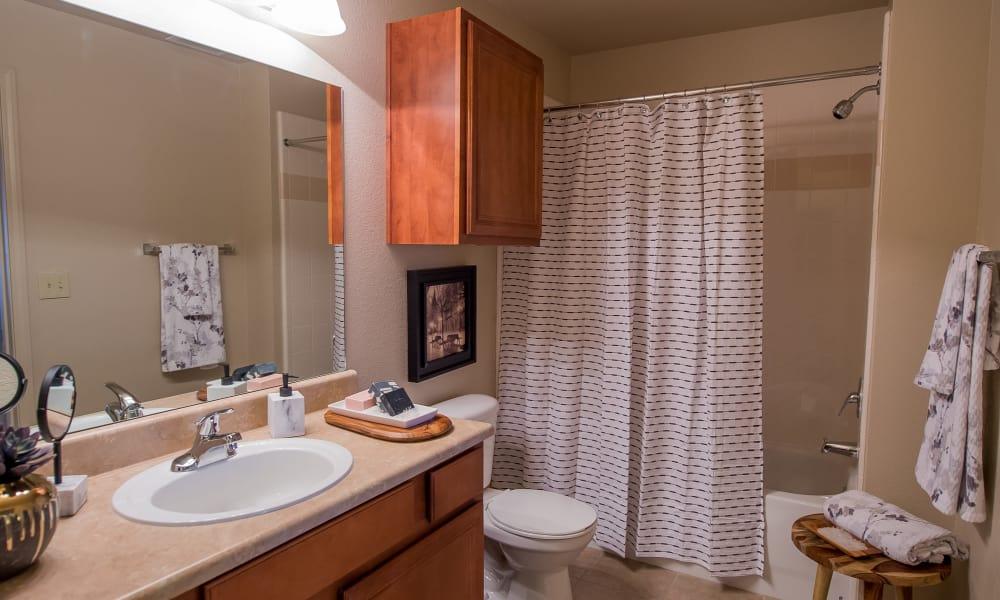 Bathroom with an extra cabinet at Prairie Springs in Oklahoma City, Oklahoma