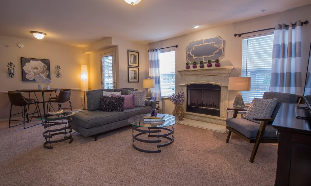 Spacious living area at Prairie Springs in Oklahoma City, Oklahoma