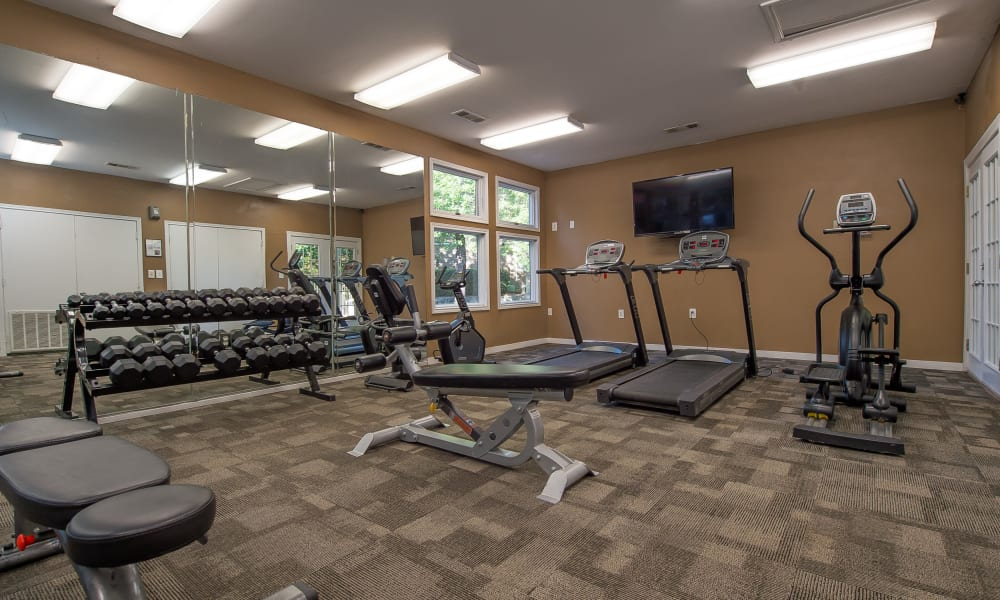 The community gym at The Pointe of Ridgeland in Ridgeland, MS
