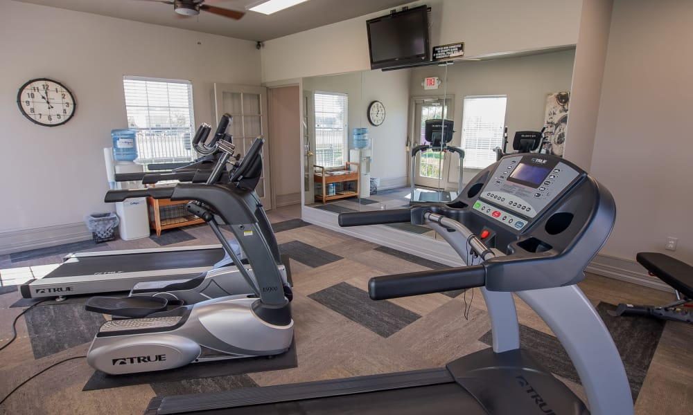 State-of-the-art fitness center at The Remington Apartments in Wichita, Kansas