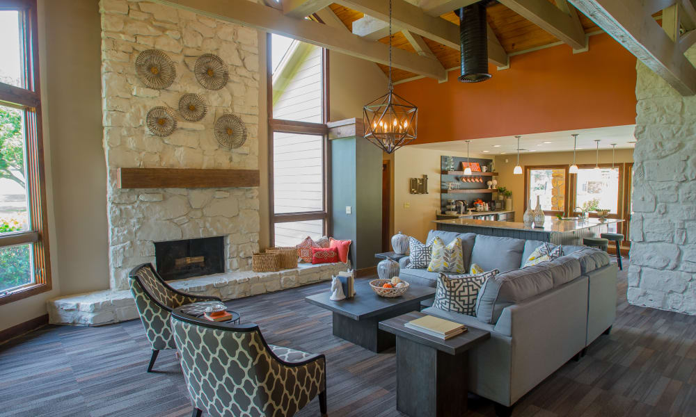 Inside the clubhouse at Chardonnay in Tulsa, OK