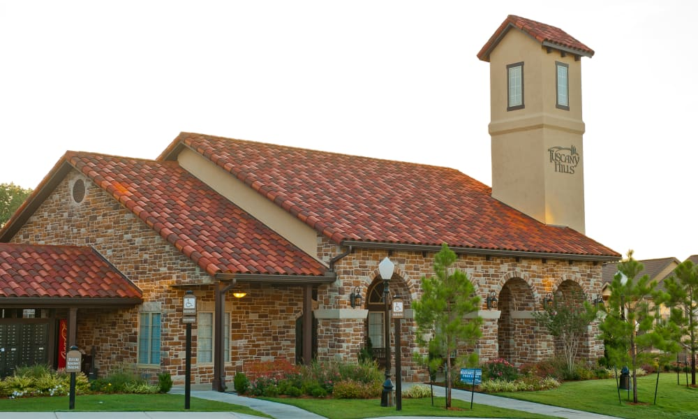 The front of the building at Tuscany Hills in Tulsa, Oklahoma