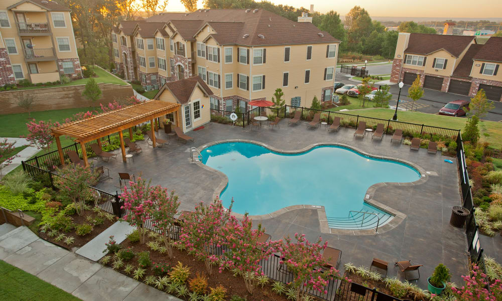 The pool at Tuscany Hills in Tulsa, Oklahoma