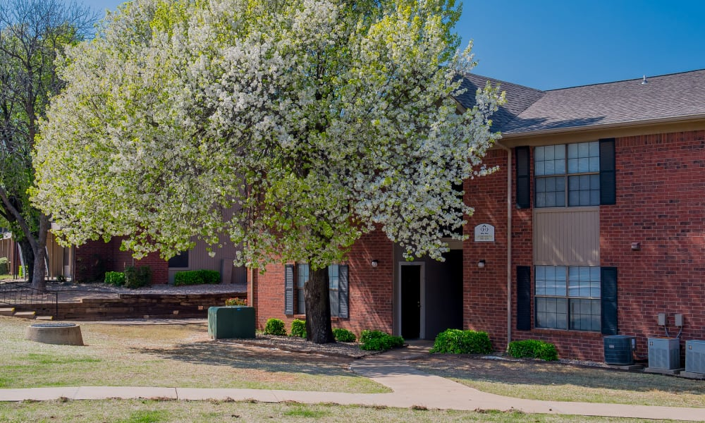 An apartment building at Waters Edge in Oklahoma City, OK