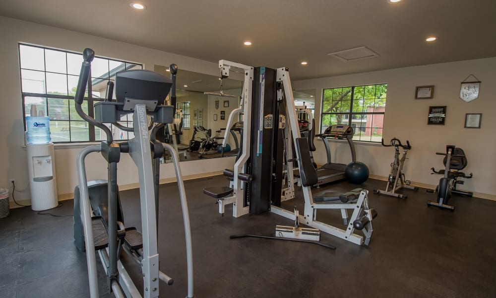 The fitness center at Waters Edge in Oklahoma City, OK