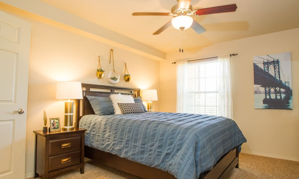 Cozy bedroom at Tuscany Hills at Nickel Creek in Tulsa, Oklahoma