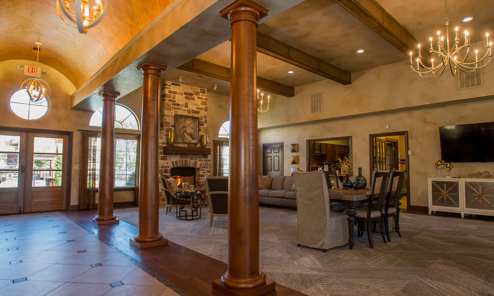 Luxurious clubhouse at Tuscany Hills at Nickel Creek in Tulsa, Oklahoma