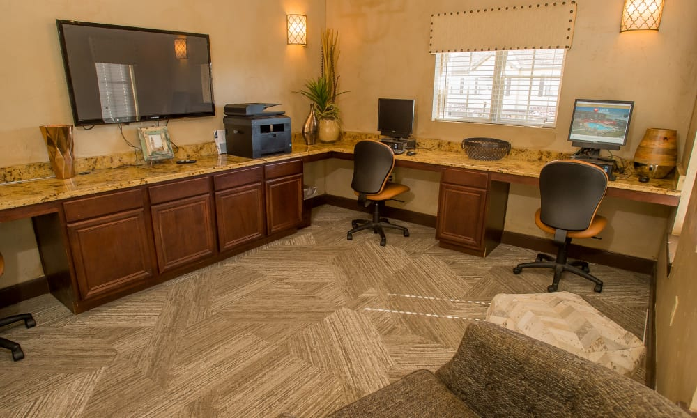 Computer room with printer access at Tuscany Hills at Nickel Creek in Tulsa, Oklahoma