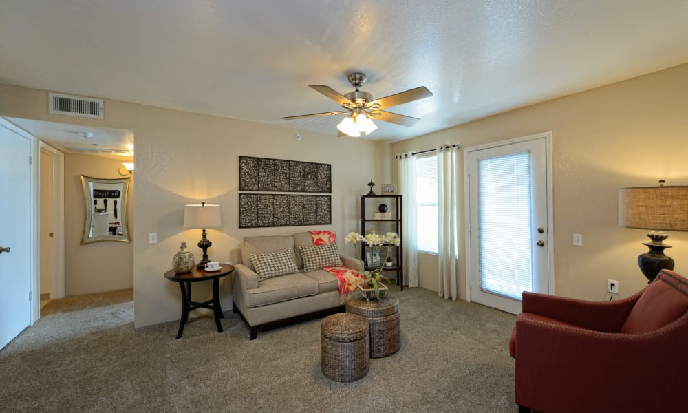 Acacia Park Apartments offers a spacious living room in El Paso, Texas