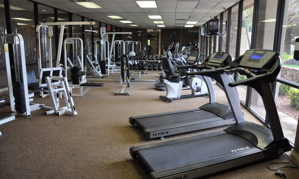 Acacia Park Apartments offers a fitness center for residents in El Paso, Texas