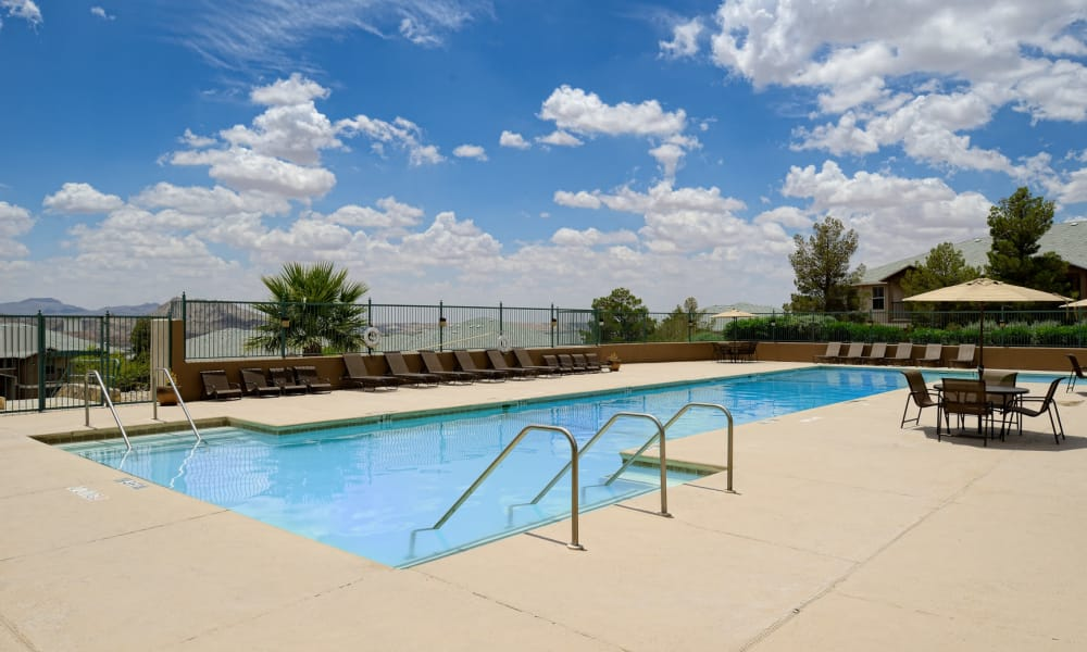 Acacia Park Apartments offers a beautiful swimming pool in El Paso, Texas