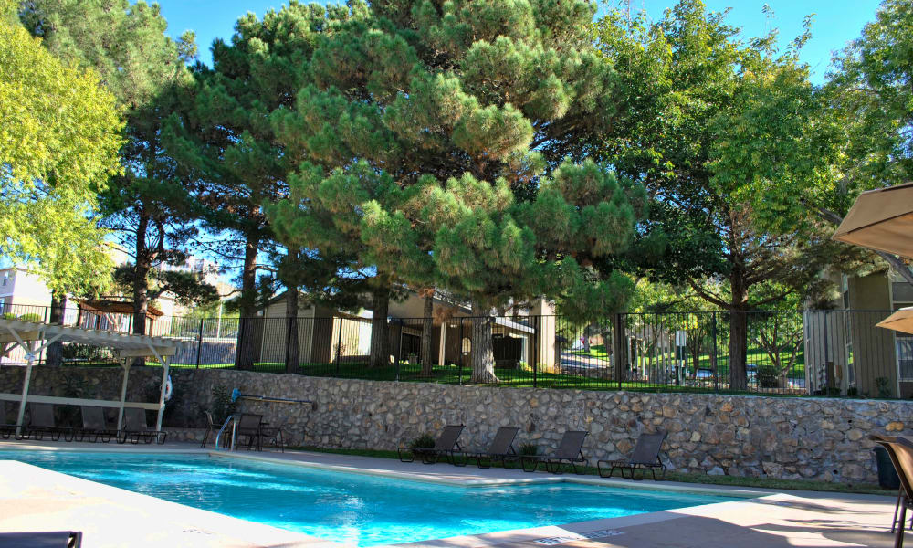 Double Tree Apartments offers a beautiful swimming pool in El Paso, Texas