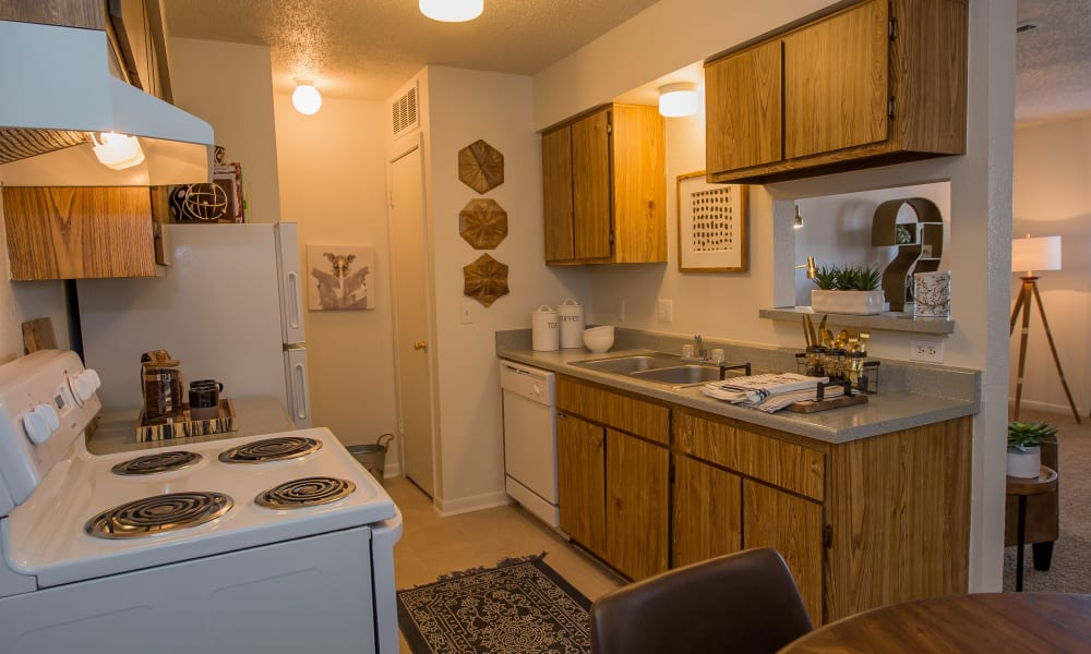 An apartment floor plan at Waters Edge in Oklahoma City, OK