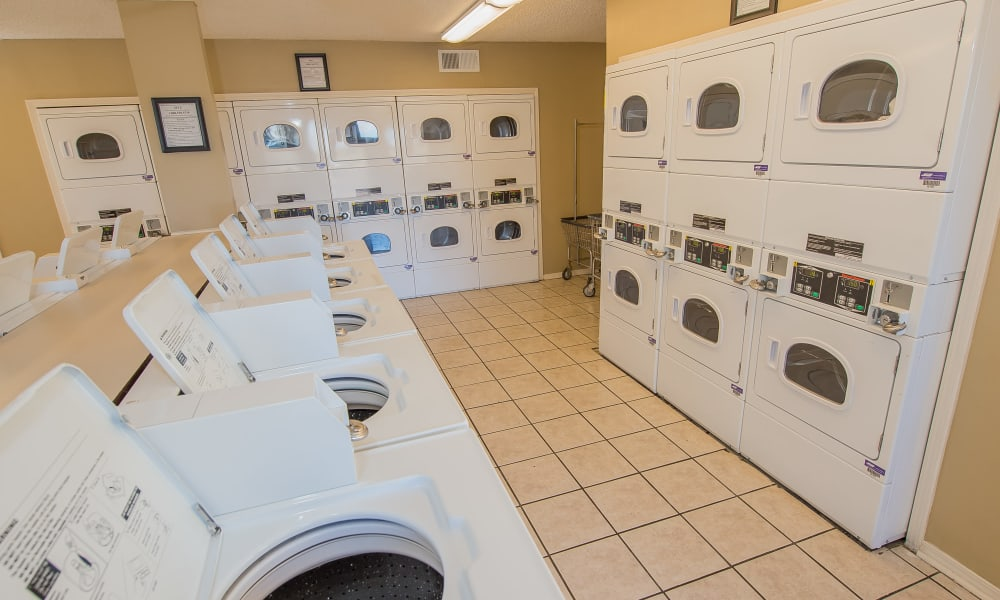 24 Hour Laundry room at Fox Run Apartments in Wichita, Kansas