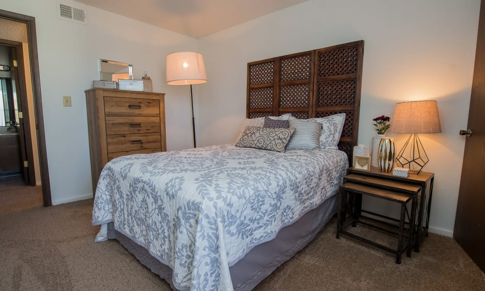 Bedroom at Fox Run Apartments in Wichita, Kansas
