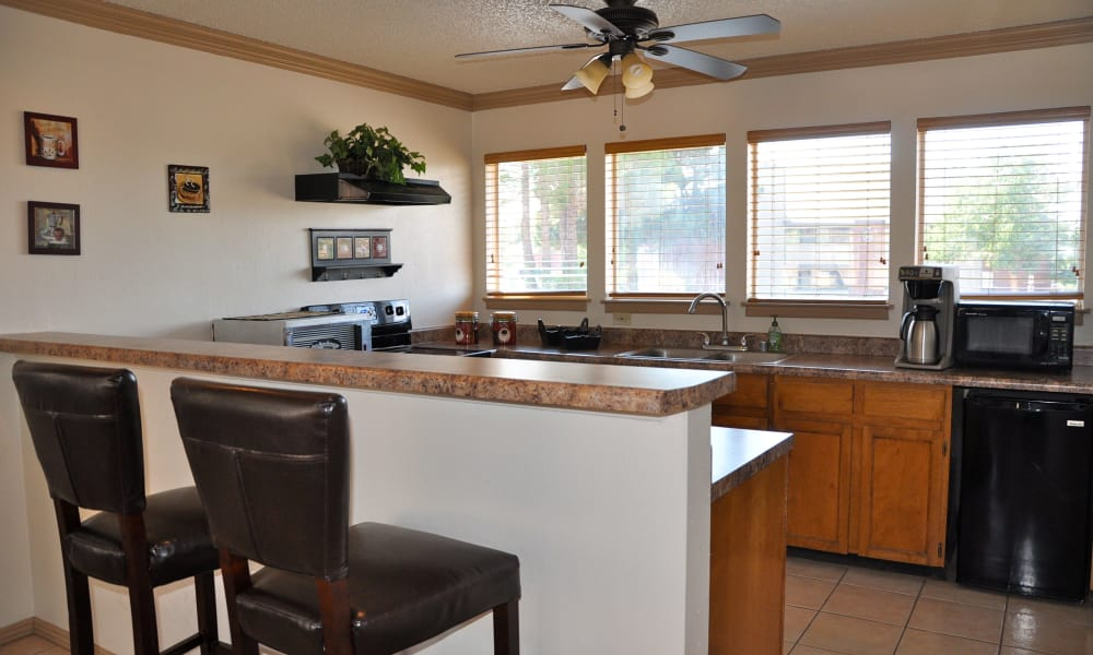 An kitchen bar at High Ridge Apartments in El Paso, Texas