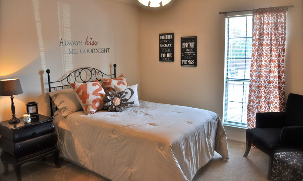 Spacious bedroom at High Ridge Apartments in El Paso, Texas