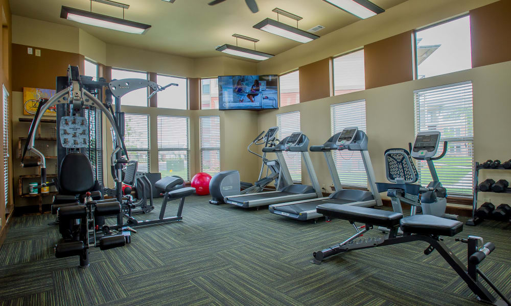 Fitness center for residents at Icon at Corpus Christi in Corpus Christi, Texas