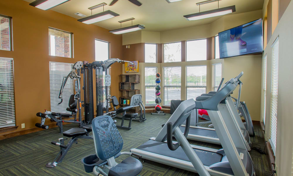 State-of-the-art fitness center at Icon at Corpus Christi in Corpus Christi, Texas