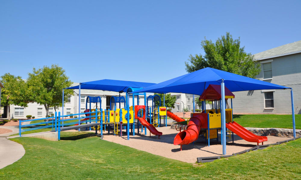 The playground at The Phoenix Apartments in El Paso, Texas
