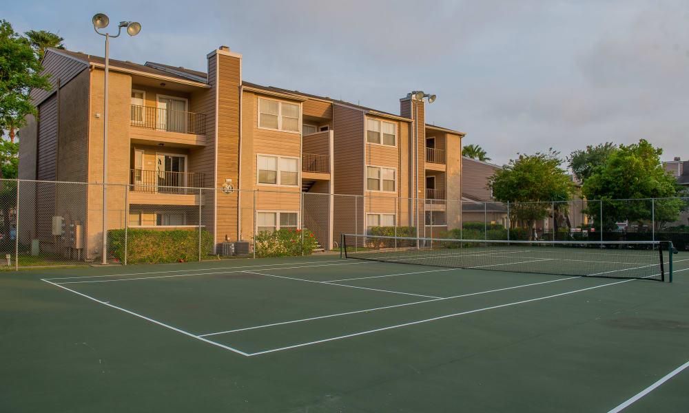 Tennis court at Walnut Ridge Apartments in Corpus Christi, Texas