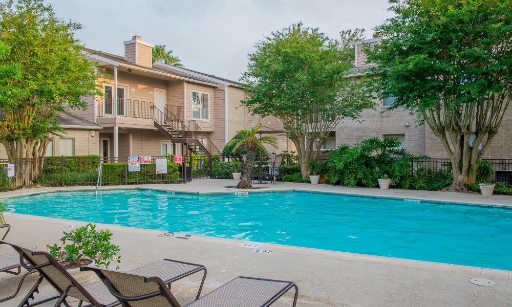 Sparkling swimming pool at Walnut Ridge Apartments in Corpus Christi, Texas
