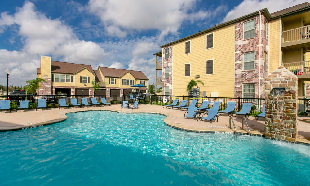 Tuscana Bay Apartments offers a swimming pool in Corpus Christi, Texas