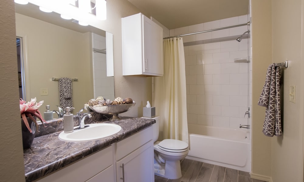 Bathroom at Mission Point Apartments in Moore, Oklahoma