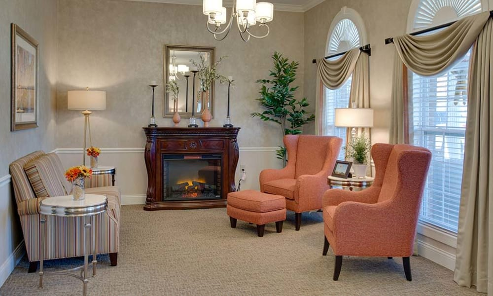 Reading corner at Willow Springs Senior Living in Spring Hill, Tennessee