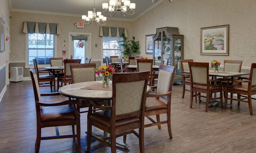 Open dining room at Willow Springs Senior Living in Spring Hill, Tennessee