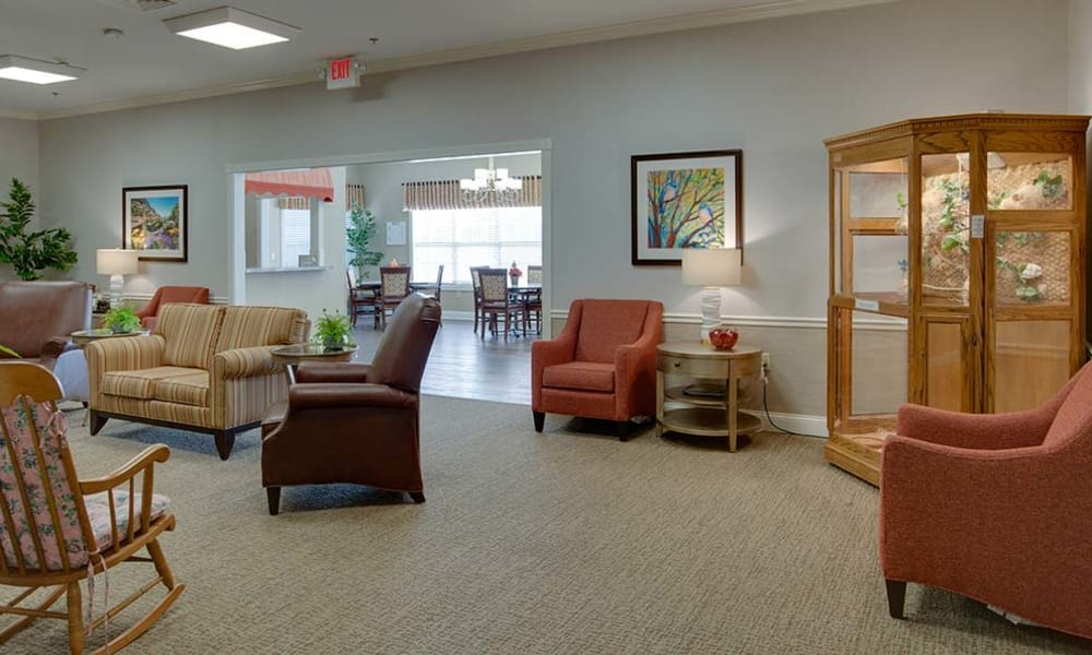 Activity room at Willow Springs Senior Living in Spring Hill, Tennessee