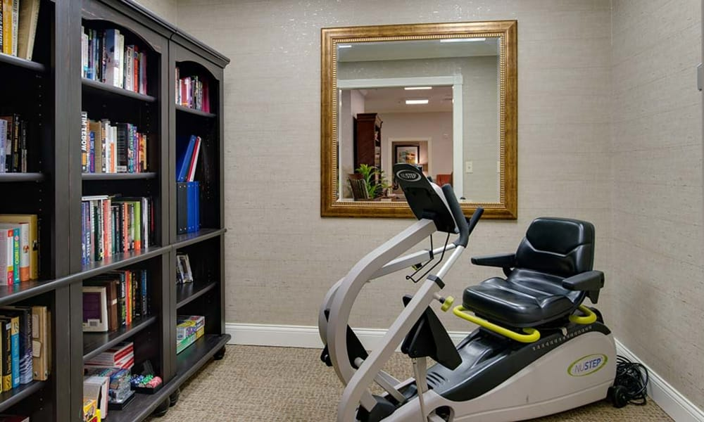Personal exercise corner at Willow Springs Senior Living in Spring Hill, Tennessee