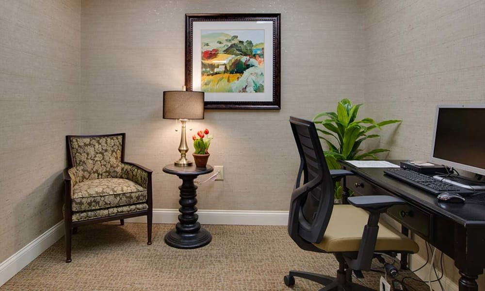 Resident office at Willow Springs Senior Living in Spring Hill, Tennessee